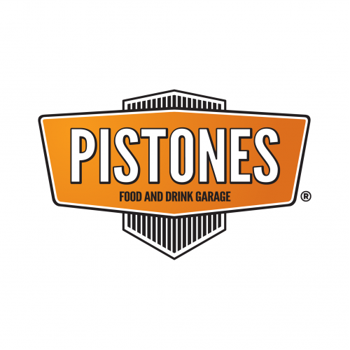 logo PISTONES FOOD & DRINK GARAGE